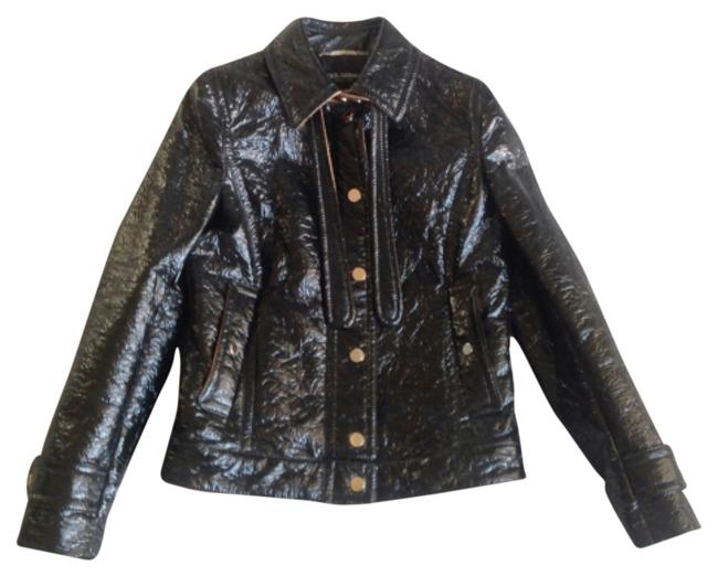 Item - Black with Bronze Dolce & Gabanna Moto Leather Jacket Size 10 (M)