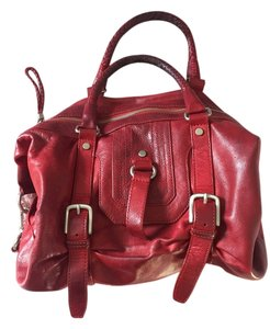 Saks Fifth Avenue Satchel in Red