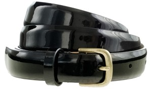 J.Crew Black Wide Patent Leather Belt