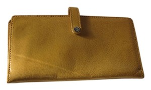 Mustard Colored Checkbook and Card Holder