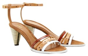 Fendi Ankle Strap Cognac Neutral tan, white, beige, gold Sandals
