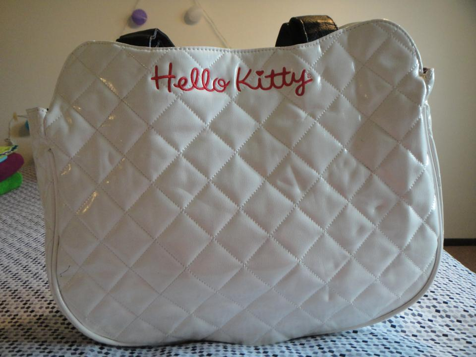 89c2430ff0c7 Loungefly Sanrio Hello Kitty Quilted Face Tote White Black Red Faux Leather  Shoulder Bag - Tradesy