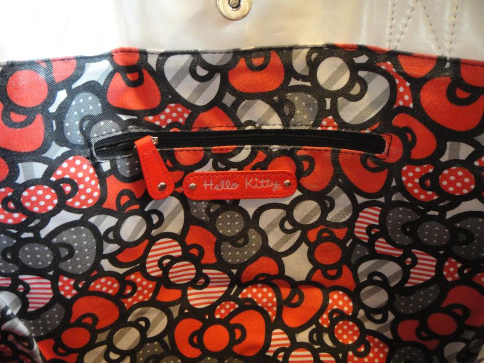 7dc94ac46 Loungefly Sanrio Hello Kitty Quilted Face Tote White/Black/Red Faux ...