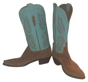 Lucchese Tan and turquise. Boots
