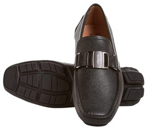 Salvatore Ferragamo Men Loafer Driving Loafer Made In Italy Black Flats