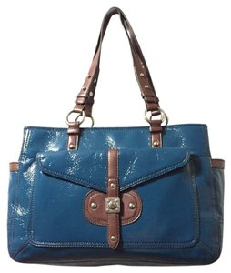 Nine West Tote in Teal, Brown