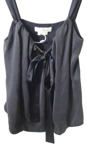 Michael Kors Silk New Couture Runway Designer Top black
