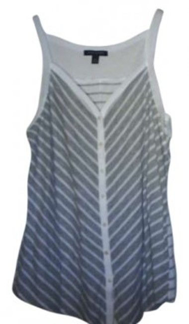 Preload https://item4.tradesy.com/images/banana-republic-grey-and-white-tank-topcami-size-10-m-131088-0-0.jpg?width=400&height=650