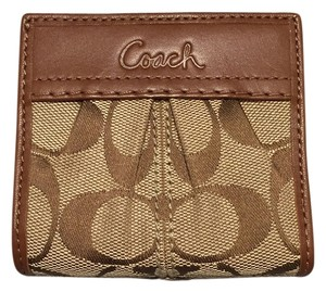 Coach Coach Signature Dark Brown and Light Brown Wallet
