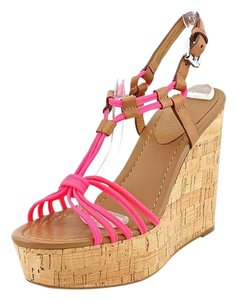 Coach Florecent Pink Wedges