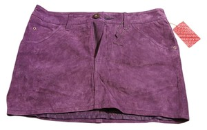 Divided by H&M Faux Suede Skirt Purple