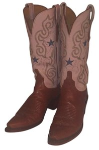 Lucchese Tan/pink Boots