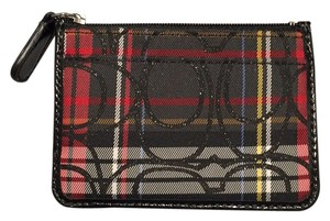 Coach Coach Signature and Tartan Plaid Card Case