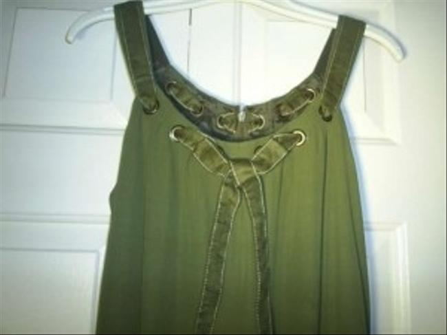 Carmen Marc Valvo short dress Olive on Tradesy