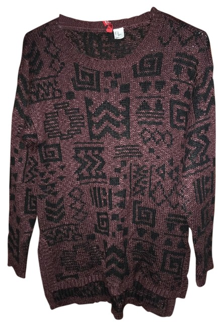 Preload https://item2.tradesy.com/images/h-and-m-burgundy-knit-sweaterpullover-size-0-xs-1310926-0-0.jpg?width=400&height=650