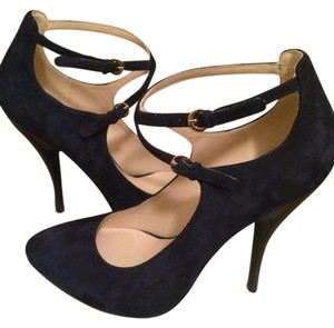 Nine West Suede Leather Navy Pumps
