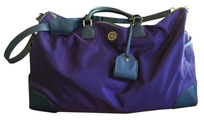 Item - Robinson And Saffiano Leather Duffel In Purple Nylon Weekend/Travel Bag