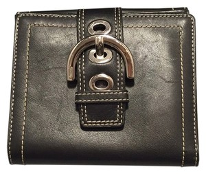 Coach Buckle Bifold Leather Wallet
