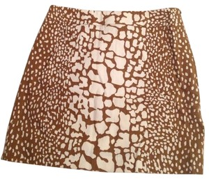 J.Crew Skirt Brown and White