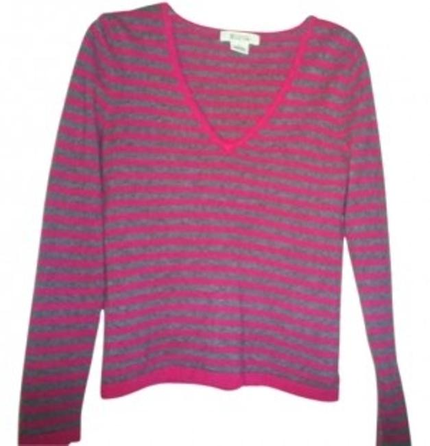 Preload https://item4.tradesy.com/images/michael-kors-fushia-grey-cashmere-sweaterpullover-size-8-m-131098-0-0.jpg?width=400&height=650