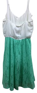 Maurices short dress mint green and cream on Tradesy