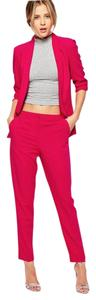 ASOS Slim Crop Work Straight Pants Magenta