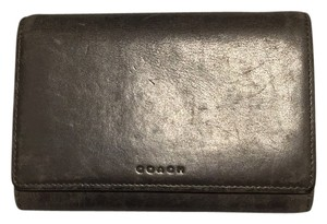 Coach Coach Grey Leather Wallet