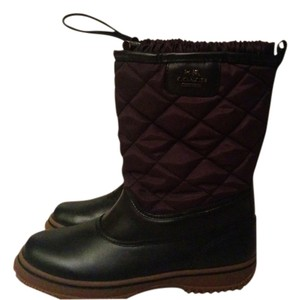 Coach Leather Samara Black Boots