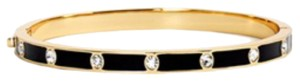 Kate Spade kate spade new york crystal & enamel hinge bangle In Black New