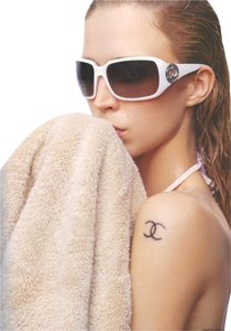Chanel Chanel 6023 White Sunglasses CC Logo Silver Hardware Oversized Classic Timeless
