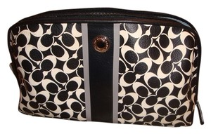 Coach Coach Coated Canvas Cosmetic Pouch Makeup Bag