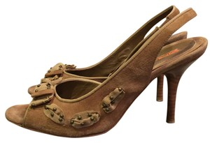 Via Spiga Camel Suede Sandals
