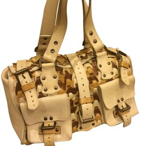 Mulberry Louis Vuitton Gucci Prada Valentino Satchel in Beige