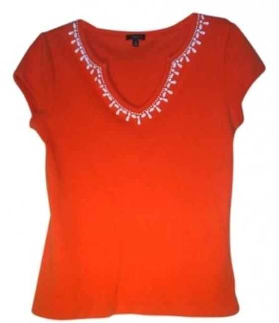 Preload https://item4.tradesy.com/images/talbots-orange-beaded-tee-shirt-size-6-s-131113-0-0.jpg?width=400&height=650