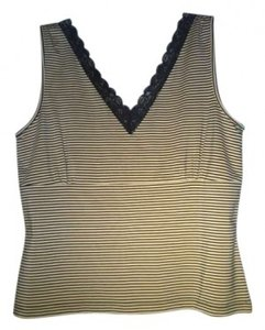 DKNY Top yellow black strip