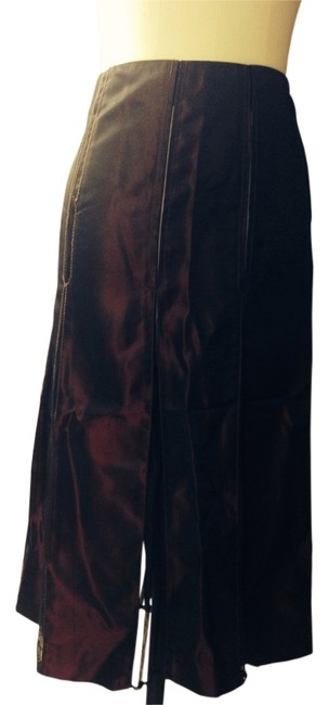 DKNY Iridescent Skirt Burgundy