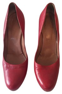 Red sexy kitten heel. Le tropezziennes made in italy size 38.5 Red leather Pumps