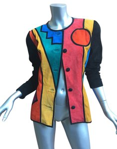 Other Vintage 80's 90's Suede multi Leather Jacket