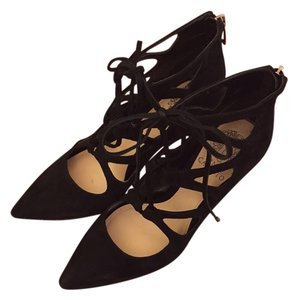 Vince Camuto Suede Lace-up High Heel black Pumps
