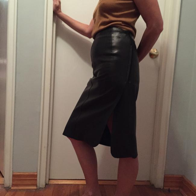 Jil Sander Leather Skirt black