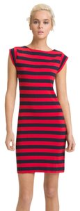 French Connection short dress Navy and Red Stripe Bold Cotton Summer on Tradesy