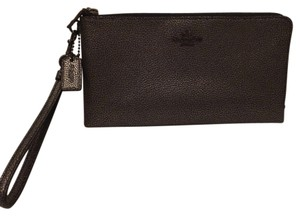 Coach Wristlet in Silver/Grey