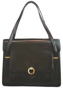 Bally Leather Satchel in BLACK