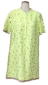 Diane von Furstenberg short dress Lime green on Tradesy