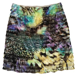 Xhilaration Tie Dye Floral Mini Skirt Print