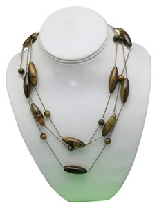 Shanghai Tang shanghai TANG necklace Tigers eye beads 3 Strand