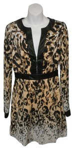 bebe Leopard Longsleeve Dress