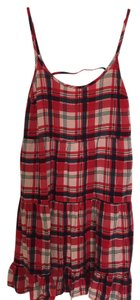 Xhilaration short dress Red Plaid Flannel Plaid Print Southern on Tradesy