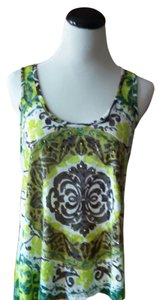 INC International Concepts Top Brown white green