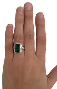 Ring Sterling silver emerald stone ring Ring Sterling silver emerald stone Ring